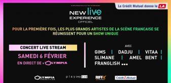 New Live Experience : un concert unique en live stream le 6/02 avec GIMS, Dadju, Vitaa & Slimane…