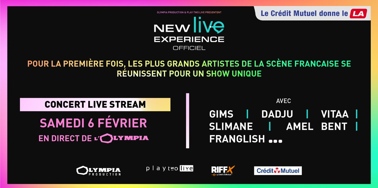 New Live Experience : GIMS, Dadju, Vitaa & Slimane, Amel Bent, Franglish… en live stream le 6 février 2021 !