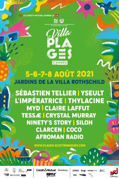 Affiche officielle Villa plages électroniques