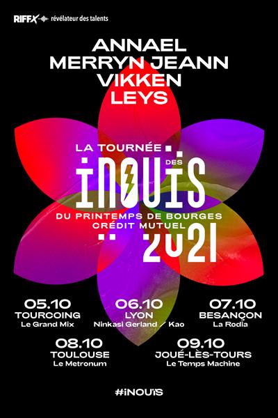 Affiche des Inouïs du Printemps de Bourges Crédit Mutuel