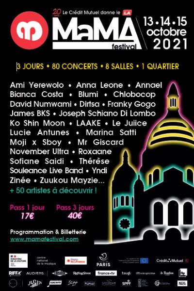 Affiche officielle MaMA Festival